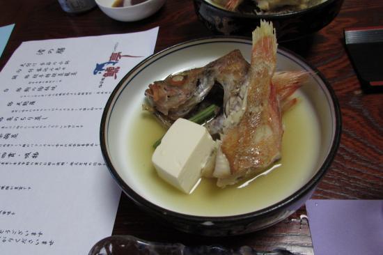 Kaieikan Shachitei : 夕食、鯛のちり蒸し