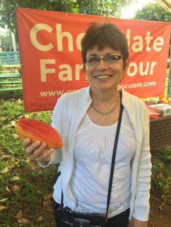 Kilauea, Hawái: Holding Cocao Pod