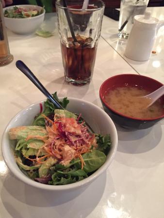 Wasabi Sushi Lounge: Wasabi Salad and Miso Soup