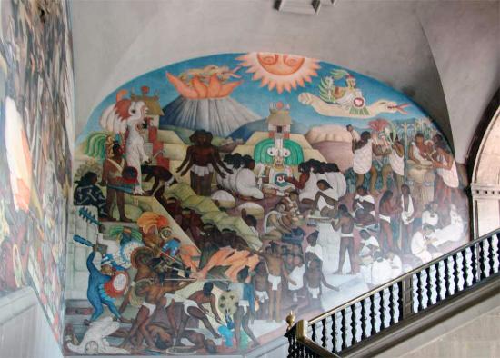 Diego rivera mural the legend of quetzalcoatl picture for Diego rivera first mural
