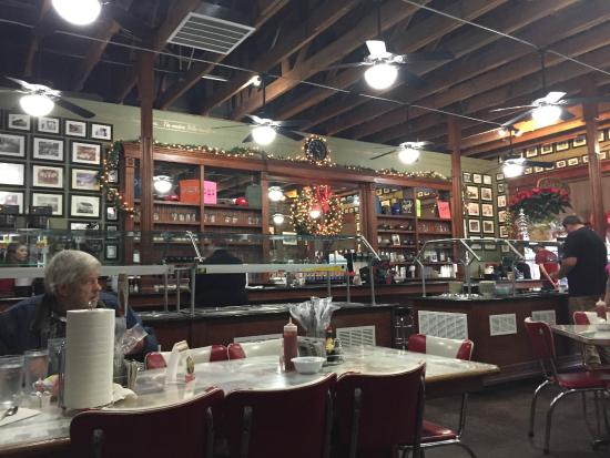 Jasper, AR: inside restaurant
