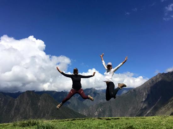 Pachamama Explorers - Private Day Tours: Taking a leap of joy on our final day of trekking just before reaching our final campsite.