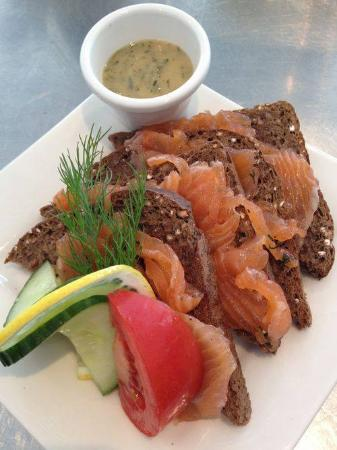 Cafe Fika: Dill cured salmon on toast