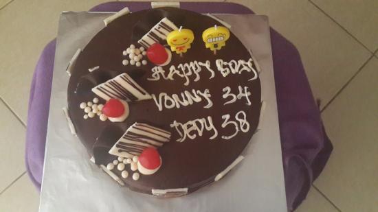Superb Birthday Cake Picture Of Melissa Bakery Mataram Tripadvisor Funny Birthday Cards Online Fluifree Goldxyz