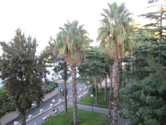 Hotel Continental: View of park from balcony