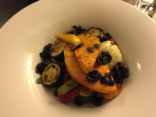 Cafe Lounge: grilled veggies with pumpkin