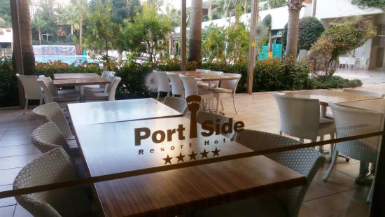 Port Side Resort Hotel: from inside restaurant view