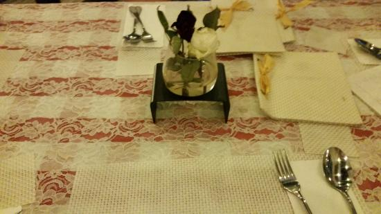 Meja Kosong Manunggu makanan tidak kunjung tiba