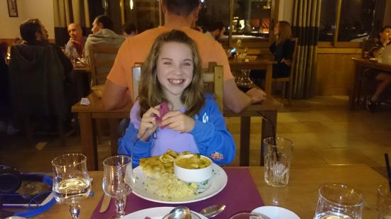 ClubHotel Belle Aurore: My daughter enjoying the food...