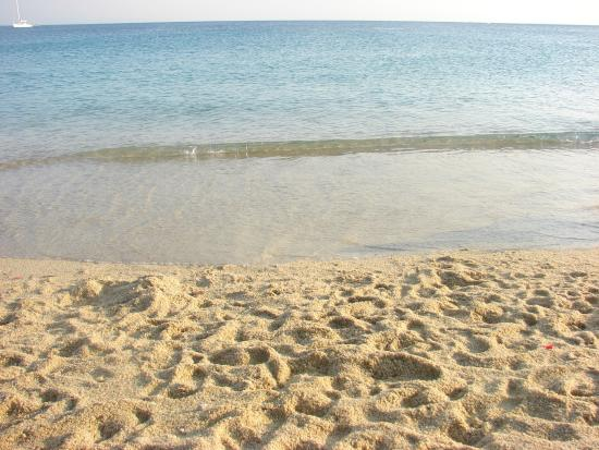 Agios Prokopios, Griechenland: Sand and See in front of Taverna