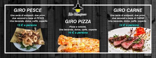 Olginate, Italien: GIRO PESCE 15€ GIRO CARNE 12€ GIRO PIZZA 10€