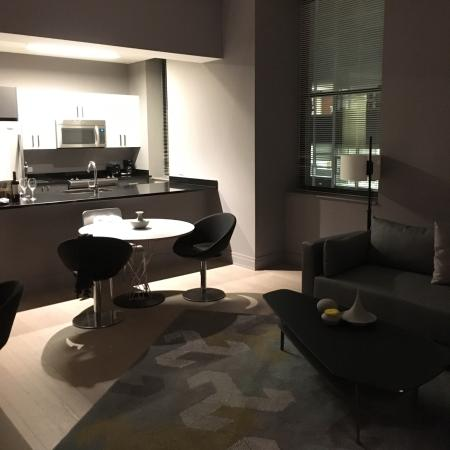 Living Room Kitchen Area Of 2 Room Suite Picture Of Q A Residential Hotel New York City