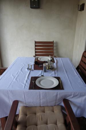 Lephalale, África do Sul: Private dining on our stoep