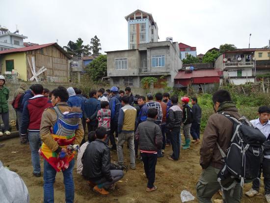 Cong Fu Hotel: Hôtel en arriére plan