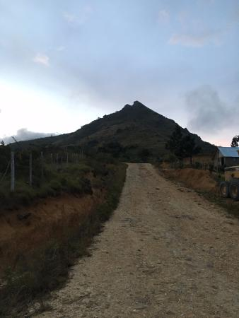 road up to mountain for sunset hike