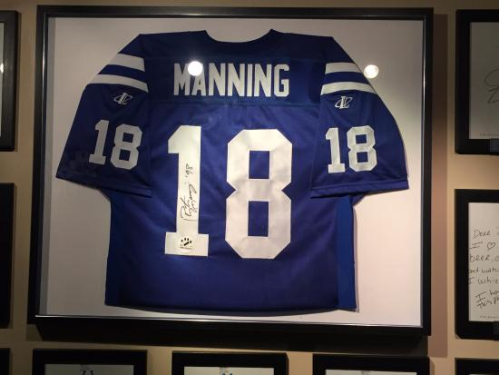brand new 10b54 97680 Peyton Manning Jersey - Picture of Indianapolis Colts Grille ...