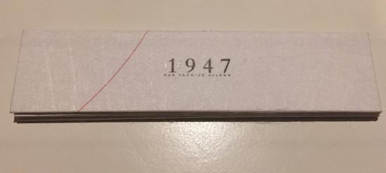 Le 1947 : The Menu