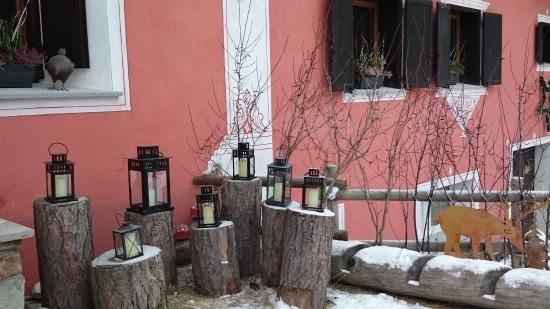Hotel Roseg Gletscher: Ausschnitt Hoteleingang