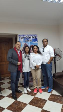 Egypt Tailor Made Day Tours: Mr Waleed and us