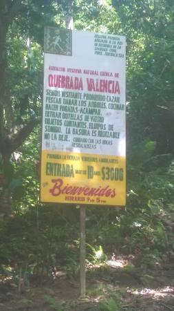 Valencia Brook's Waterfalls: Aviso