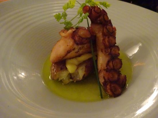 Hotel Unique: Octopus starter at Skye Bar