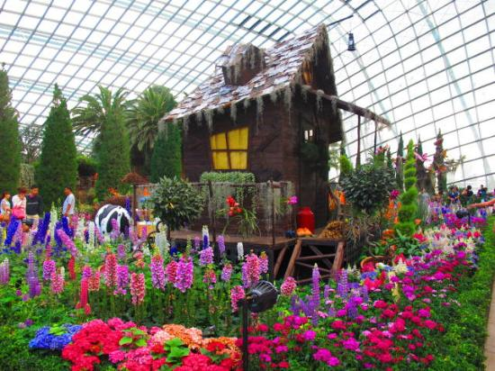 gardens by the bay flower dome thematic