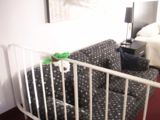 La Tour Belvedere: En ese mismo desnivel hay un sillon para ver la tv
