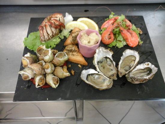 Saint Fort sur Gironde, França: l'assiette de la mer , une de nos spécialités de fruits de mer
