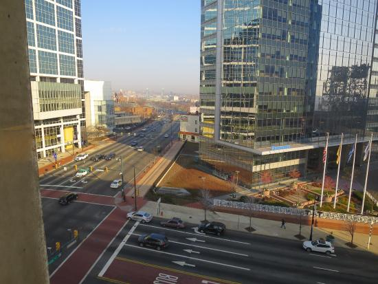 Hilton Newark Penn Station: Looking north from the 8th floor.