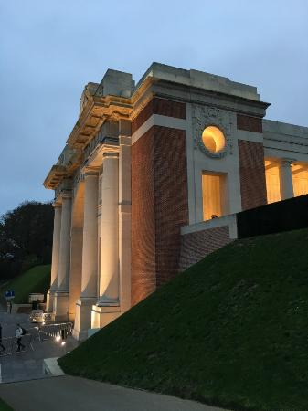 Newport Pagnell, UK: The Menin Gate the eve of Armistice 2015