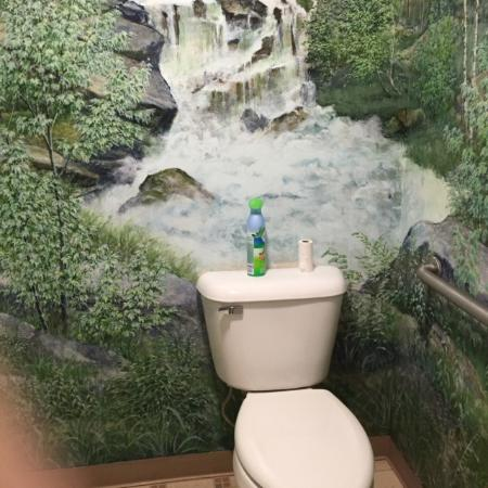 Springvale, Μέιν: LOL  Serene bathroom. Makes you want to Pee :)