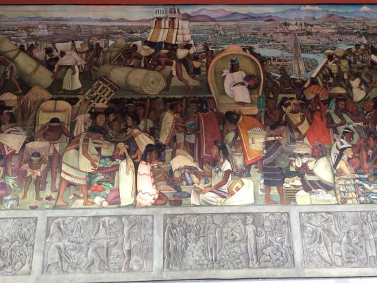 Diego rivera mural the legend of quetzalcoatl picture for Diego rivera aztec mural