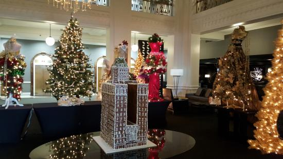 lord baltimore hotel hotel lobby decorated for christmas - Christmas In Baltimore
