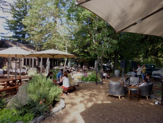 Forestville, CA: View from outdoor tasting area, including band