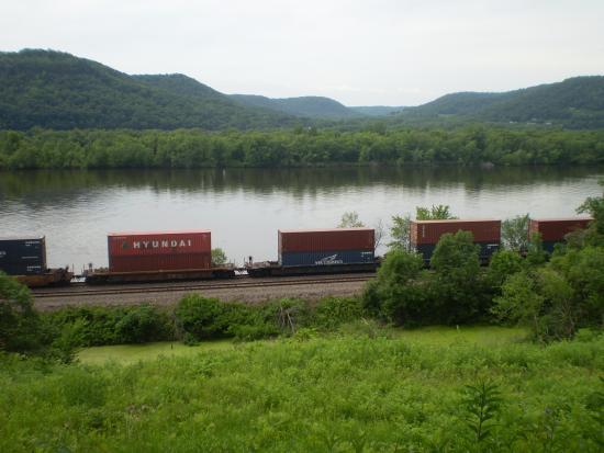 Trempealeau, WI: Mississippi River and Minnesota