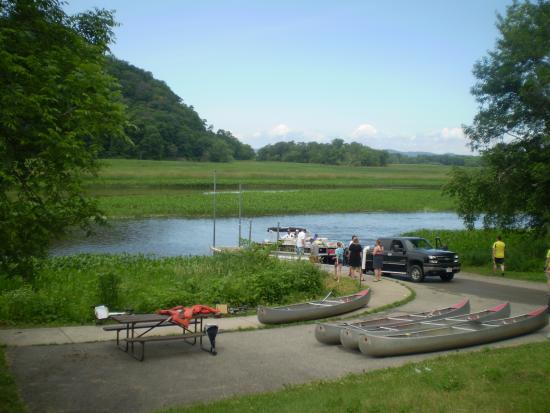 Boat landing on the Trempealeau River