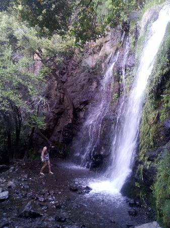 Rancagua, Chile: cascada antes de llegar al mirador