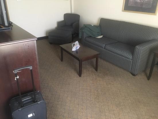 Hampton Inn Asheboro : Living area 1 bedroom king suite