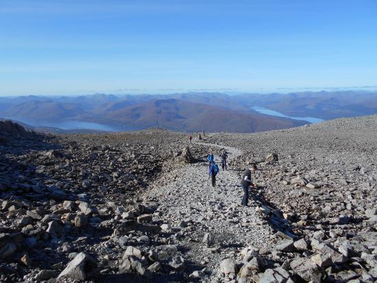 Ben Nevis: Nearing the summit