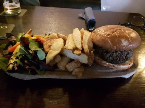 Burton Agnes, UK: Lamb burger.