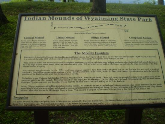 Bagley, WI: Indian Mounds Plaque