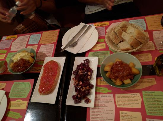 Tapas Cafe: The food we ate