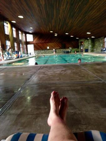 North Bonneville, WA: Relaxing after swimming!