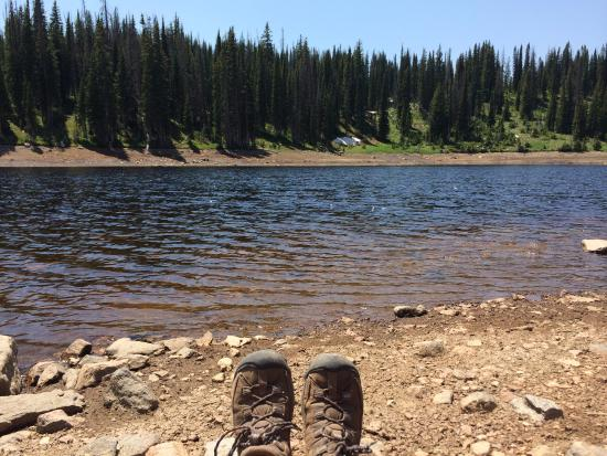 Long lake 5 miles up the trail picture of fish creek for Fishing colorado springs
