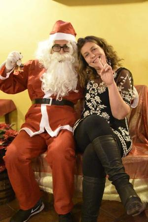 Montespertoli, Italien: Con babbo Natale! !!