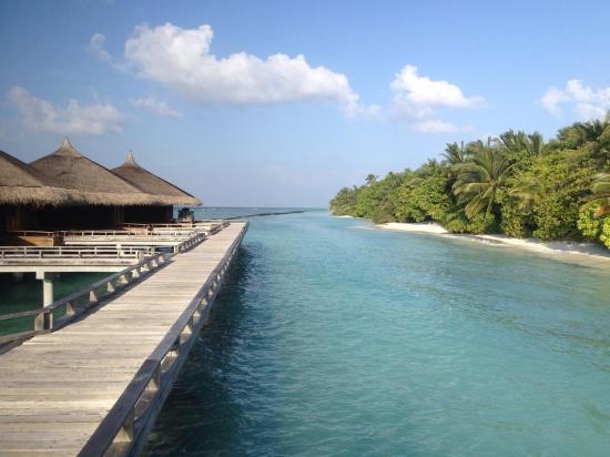Kuramathi Island Resort: accès au pilotis