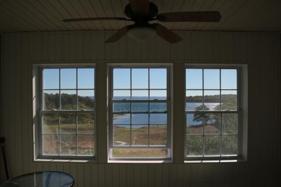 Rockport, ME: Looking out through the sun room
