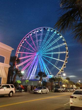 Myrtle Beach Skywheel Sky Wheel At Night