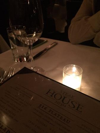 Steak House No 316: Your usual Prime Steakhouse Fare.