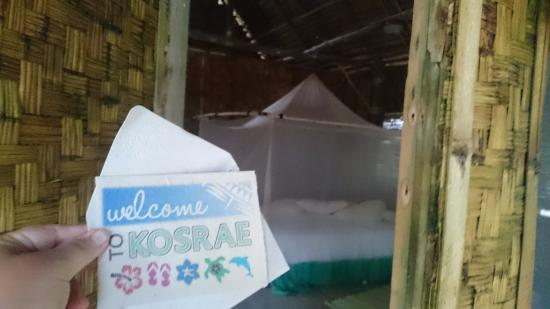 Kosrae Village Ecolodge & Dive Resort: From front door into room